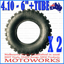 "2 x 4.10 - 6"" inch Tyre Tire + Tube ATV QUAD Bike Gokart Scooter Buggy Mower"