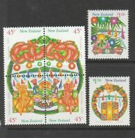 1993 New Zealand~Christmas~Unmounted Mint ~Stamp Set~ UK Seller