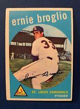 1959 Topps Set Break #296 - Ernie Broglio St Louis Cardinals Rookie Rc Ex-Exmt