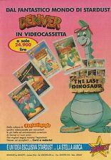 X2831 Denver - Videocassette Stardust - Pubblicità 1990 - Advertising