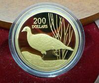 2005 $200 1/2oz Gold Proof Coin Rare Birds - Malleefowl - RAM No.886