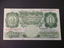 More details for duggleby b260 peppiatt 1948 one pound first series s52a  very fine 1948 £1 note.