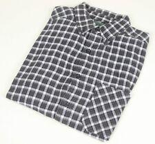 WOOLRICH Button-down Flannel Shirt Medium M Black Men's VTG Plaid Outdoor l/s