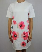 Short Sleeve Tunic Floral Dresses for Women