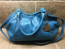 🔥RELIC Turquoise Blue Faux Leather Shoulder Satchel Handbag NEW w/Keychain🔥