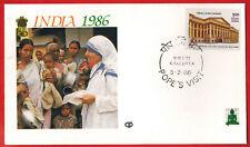 1986-Enveloppe 1°Jour**Vatican- J.P.II -Mère Téresa-Calcutta - Inde-1 P-Yv.831