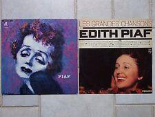 EDITH PIAF 2 LPS les grandes chansons d 'Edith Piaf & orchestre Jacques Lesage