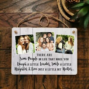 8x6'' Personalised Hanging Plaque Friend Family Plaque Keepsake Present Gift