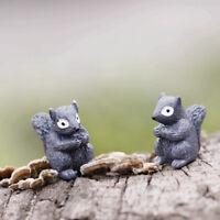 Miniature Emotion Squirrel Garden Ornament Plant Pot Fairy Dollhouse Craft RK
