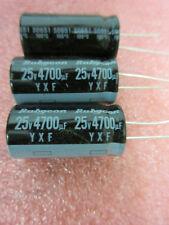 25 V 4700uF 105 ° C Condensador electrolítico Radial ** 5 por Venta ** Rubycon = 85p EA