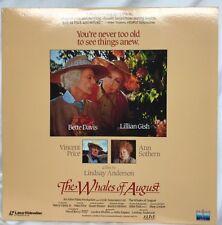 The Whales Of August Rare Drama Laserdisc 1987 Bette Davis Vincent Price