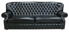 Hohe Rückenlehne Chesterfield Leder Sofa Couch Polster Sitz Garnitur 4 Sitzer