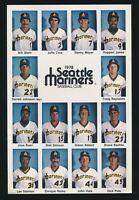 1978 FRED MEYER (Seattle Mariners) Team Issue -Checklist/Header Card *RARE* #2