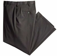 Dockers Men's Comfort Khaki Stretch Relaxed-Fit Flat-Front, Grey, Size 40W x 30L