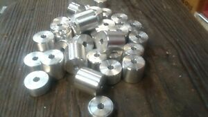 "1"" diameter aluminum spacer 3/8"" hole - you select thickness from 1/4"" to 1 1/2"""