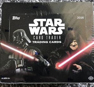 2016 Topps STAR WARS Card Trader sealed Trading Card Retail Box! 24 Packs!