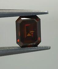 Color Enhanced Red Natural Diamond Emerald Cut Best Color 0.50 Carat Best Price
