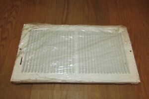 """HVAC New AIR GRILLE White Metal Wall/Ceiling/Floor Vent 13.25""""L x 7.25""""W #2851"""