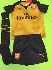 3d5c959b4c9 Authentic Puma Arsenal away gold football kit for boys 5-6 years BNWT 2015-
