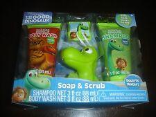 NEW Disney The Good Dinosaur Soap & Scrub set Shampoo body wash & bath scrubby