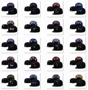 3D Embroidered NFL Football Teams Logo Flat Brim Snapback Baseball Cap Sun Hat