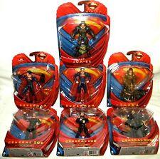 SUPERMAN Man of Steel Set of 7 Action Figure Movie Masters ZOD FAORA JOR-EL