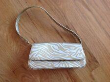 Liz Claiborne Small Purse Cluch Gold Zebra