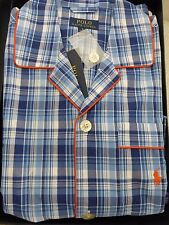 Bnwt Polo Ralph Lauren Schlafanzug blau Karomuster Baumwolle Schlafanzughose Set Größe S