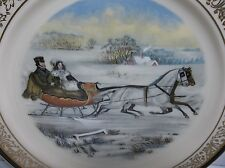 Lenox China Currier & Ives 1985 Limited Edition Christmas Plate The Road Winter