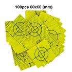100pcs Fluorescent yellow-green Retro Reflective Target 60mm FOR total station