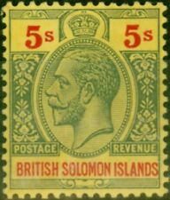 More details for solomon islands 1914 5s green & red-yellow sg36 fine lmm