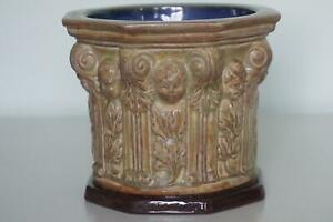Royal Doulton Lambeth Stoneware Font - Children & Foliage - c.1931