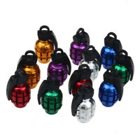 2X 7 Colors Universal Grenade Alloy Valve Cap Dust Covers Tyre Car Accessory Top