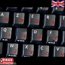 English UK Transparente pegatinas Teclado Con Letras Rojas Para Computadora