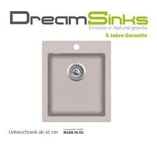 NEU!!! Günstige Küchenspüle 45er Schrank Granit Composit Einzelbecken beige