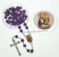 12 PC FIRST COMMUNION FAVORS ROSARY BOY ROSARIES ROSARIO VINO PRIMERA COMUNION