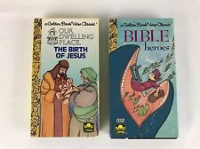 Birth of Jesus + Bible Heroes Golden Book Video Classic Childrens VHS Tapes