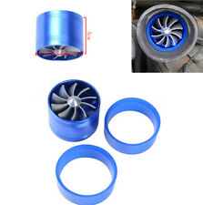 "Turbo Single Fan Air Intake Fuel Saver Fan Blue for 2.5"" ~ 2.9"" Car Intake Hose"