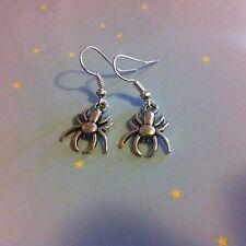 Mini Spider Earrings Cute Goth Emo Arachnid Silver NEW Collectable Kawaii Pretty