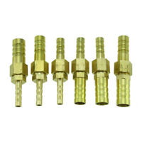 6-32MM Messing Schlauchtülle | Außengewinde x Schlauchnippel | Schlauchverbinder