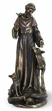 "St. Francis of Assisi with Animals 14"" Statue Joseph Studios NIB"