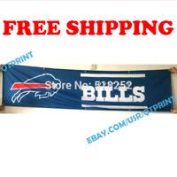 Buffalo Bills Logo Banner Flag 2x8 ft 2020 NFL Fan Club Wall Home Decor NEW