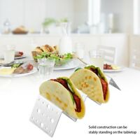 Stainless Steel Mexican Display Stand Shell Rack Wave Shape Taco Holder for Home