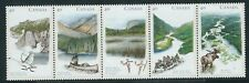 Canada 1991 Rivers 1st series strip of 5  MUH