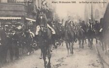 FOREIGN ROYALTY : 1909 BELGIUM-Accession of KIng Albert -Cortege on route