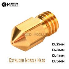 ALL 0.2mm 0.3mm 0.4mm 0.5mm Extruder Nozzle Head for Makerbot MK8 3D Printer