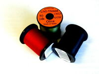 Fly Tying Thread, 3 x Uni Pre-Wax  thread, Pack of Three, Choice of colours #6/0