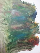 Original Mixed Media Abstract Painting, Acrylic, Outsider Art, Portrait