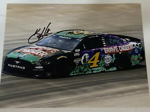 Kevin Harvick autographed 2021 GRAVE DIGGER BUSCH LIGHT FORD MUSTANG 8x10 photo