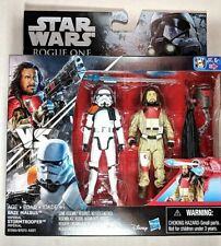 Star Wars Rogue one Baze Malbus vs IMPERIAL Stormtrooper NEW 2 Pack 3.75""